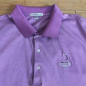 ⛳ Peter Millar Golf Polo Pinehurst Golf Purple XXL